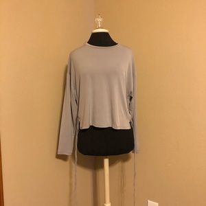 Zara crop tie side top
